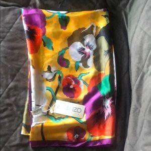 Kenzo silk scarf NWT